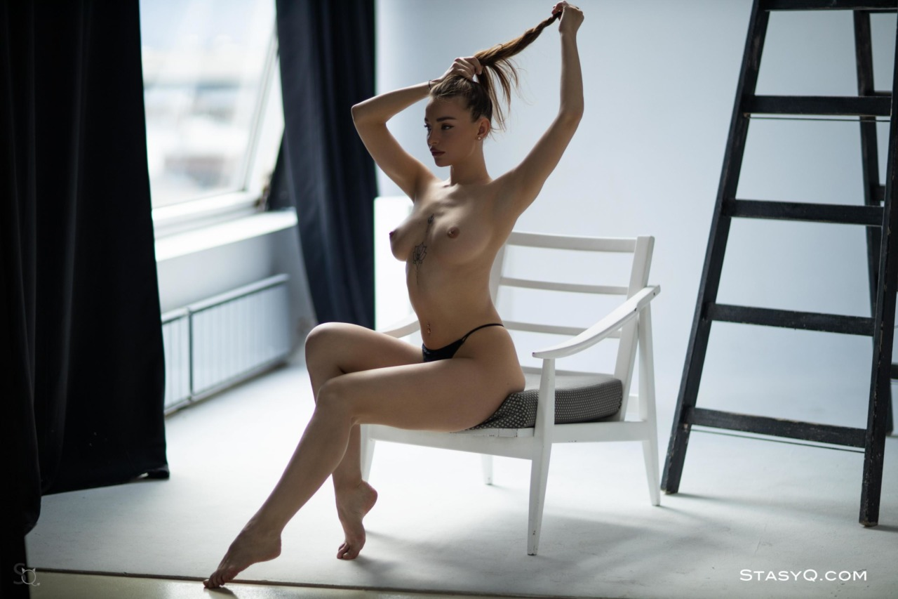 Melody Q in Black Lingerie 10