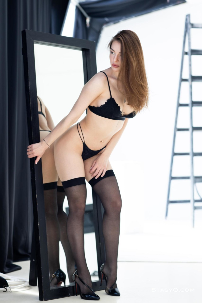 Melody Q in Black Lingerie 1