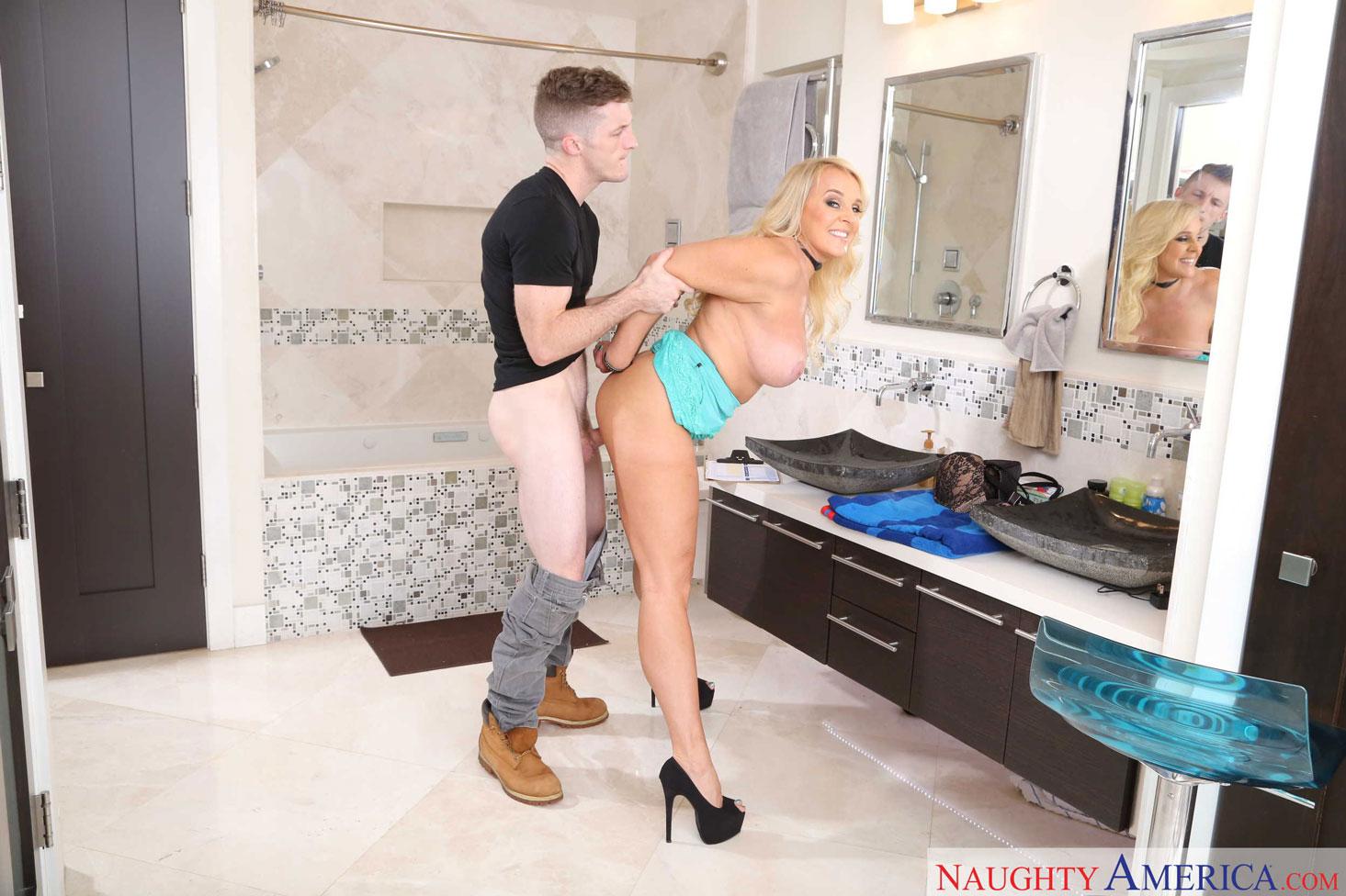 Naughty America - Alexis Golden Fucked in the Bathroom 6
