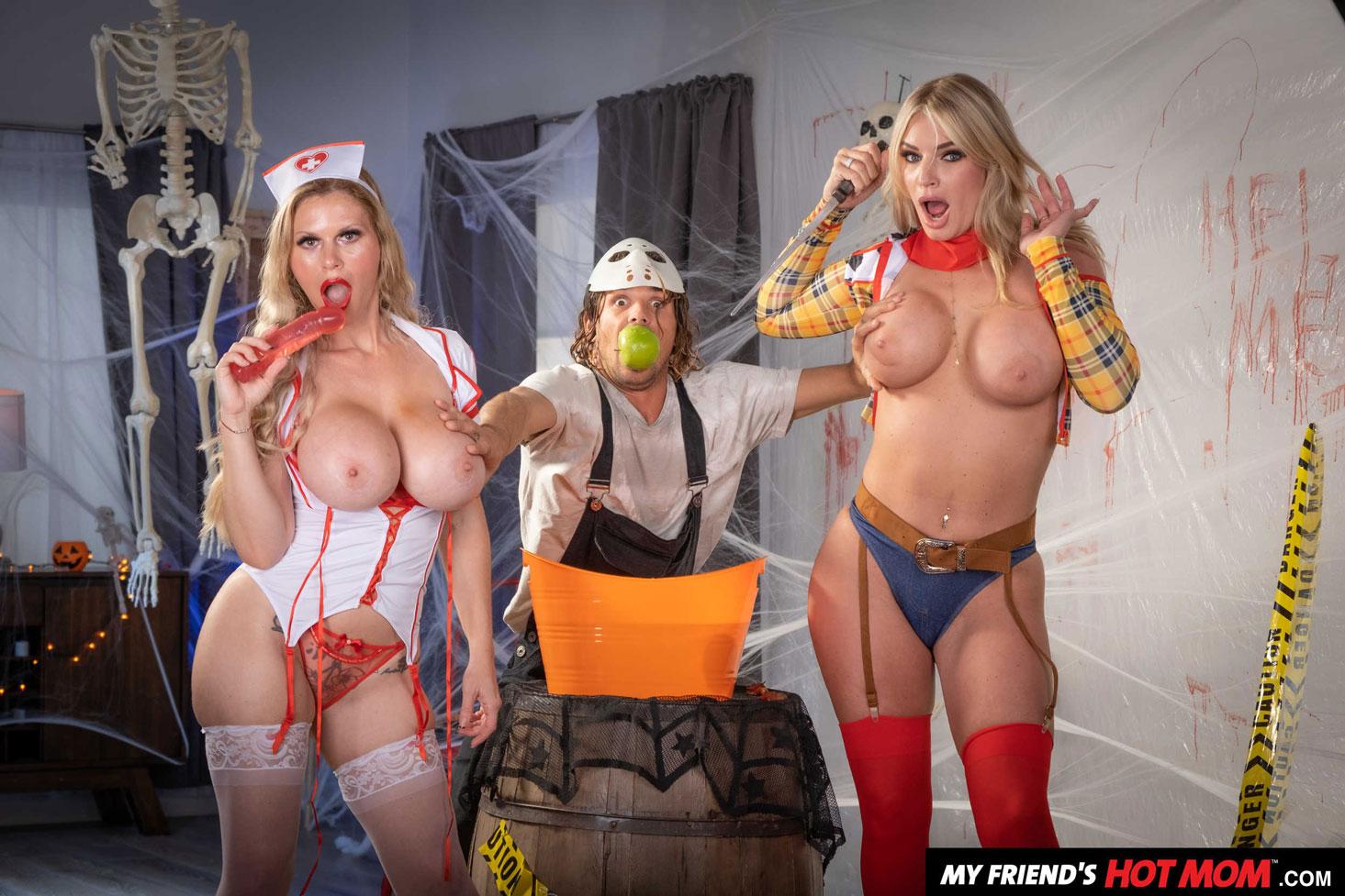 Naughty America - Casca Akashova & Rachel Cavalli Halloween Party 2