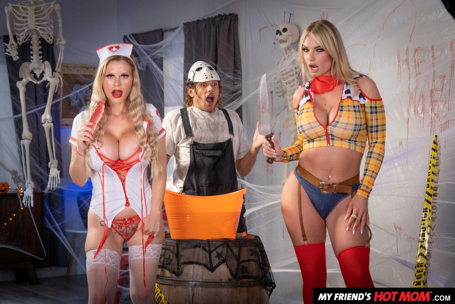 Naughty America - Casca Akashova & Rachel Cavalli Halloween Party 1