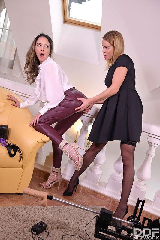 Euro Girls on Girls: Cherry Kiss & Francys Belle - Sexy Sub's DP Punishment - Part 1 2