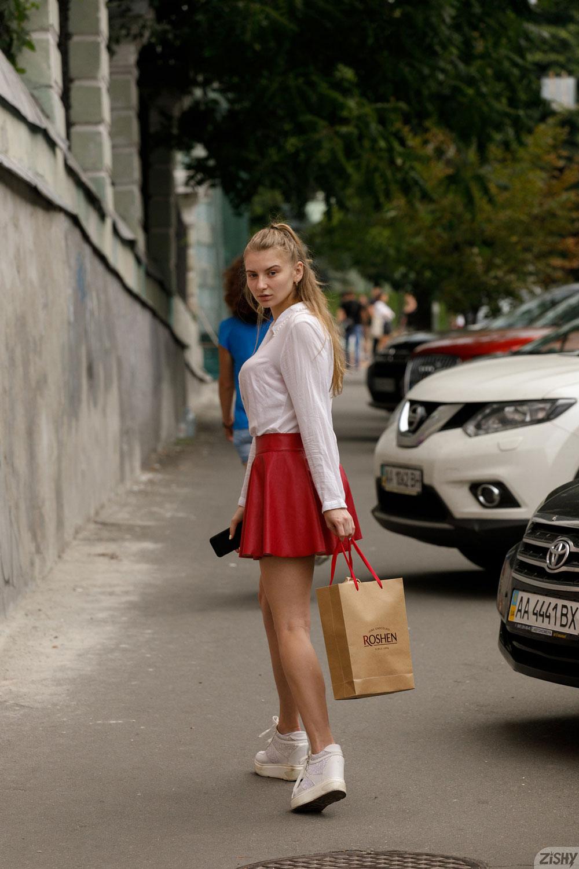 Zishy: Regan Budimir Red Skirt 1