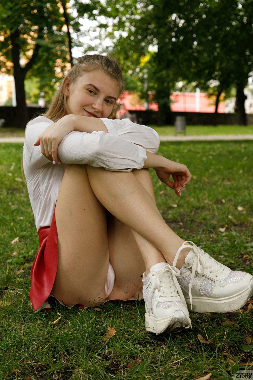 Zishy: Regan Budimir Red Skirt 5