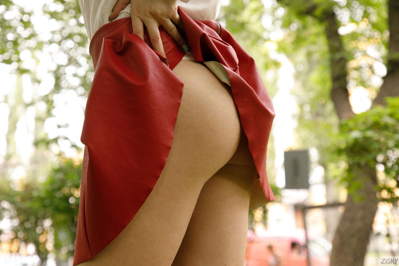 Zishy: Regan Budimir Red Skirt 6