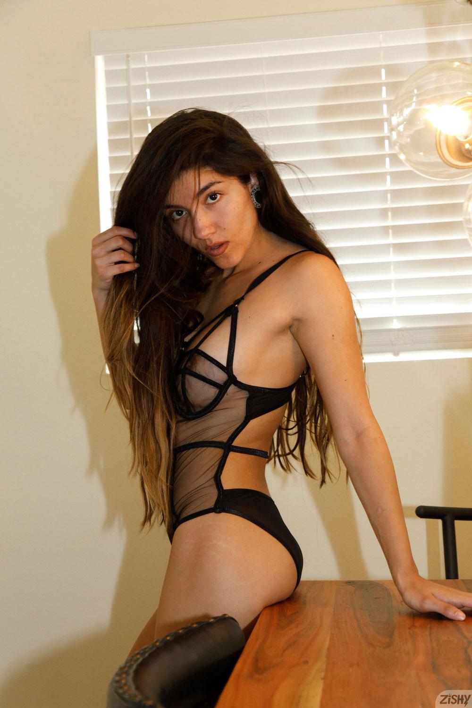 Zishy: Adriene Macedo Latina in Lingerie 1