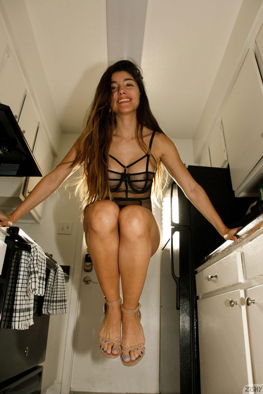 Zishy: Adriene Macedo Latina in Lingerie 4