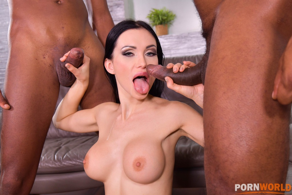 Twisted Sister Calls Over 2 Black Plumbers to Unclog All Her Holes GP1787 7