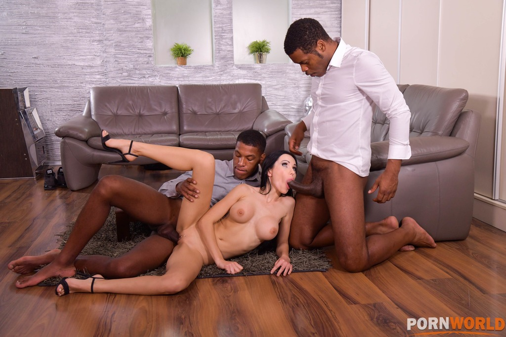 Twisted Sister Calls Over 2 Black Plumbers to Unclog All Her Holes GP1787 4