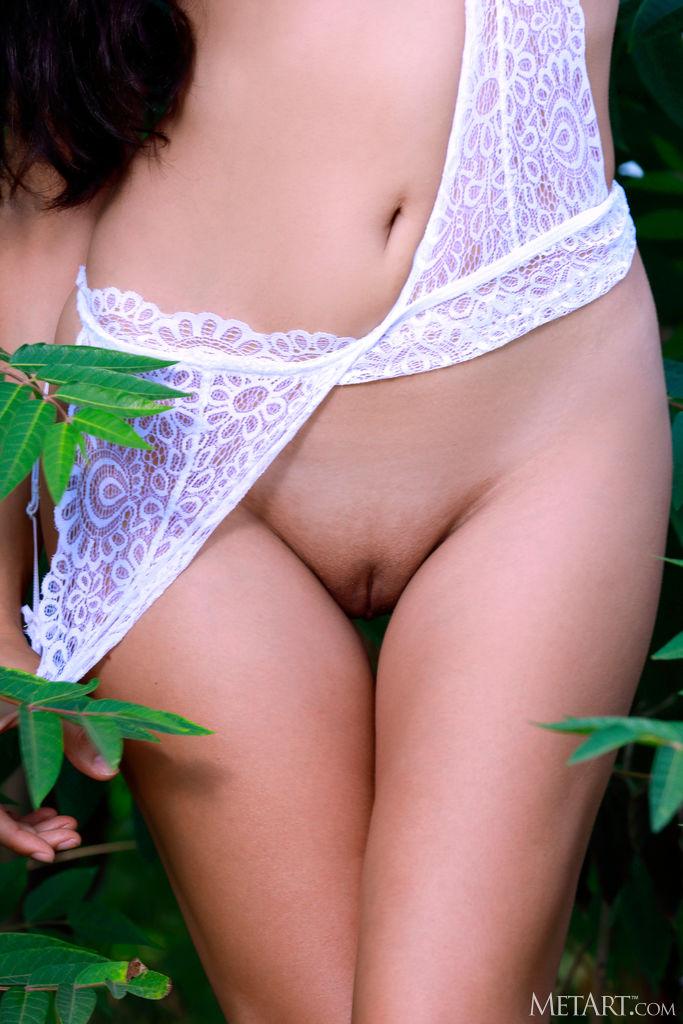Zishy: Martina Mink in White Lingerie 6