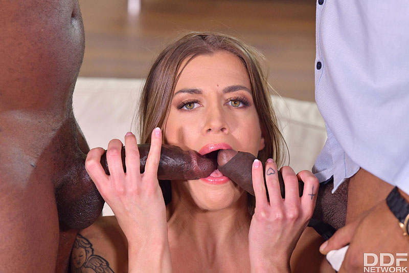 Hands on Hardcore: Yves Morgan & Darrell Deeps - Cute Czech Saleswoman Silvia Dellai Closes the Deal on Two BBCs 11