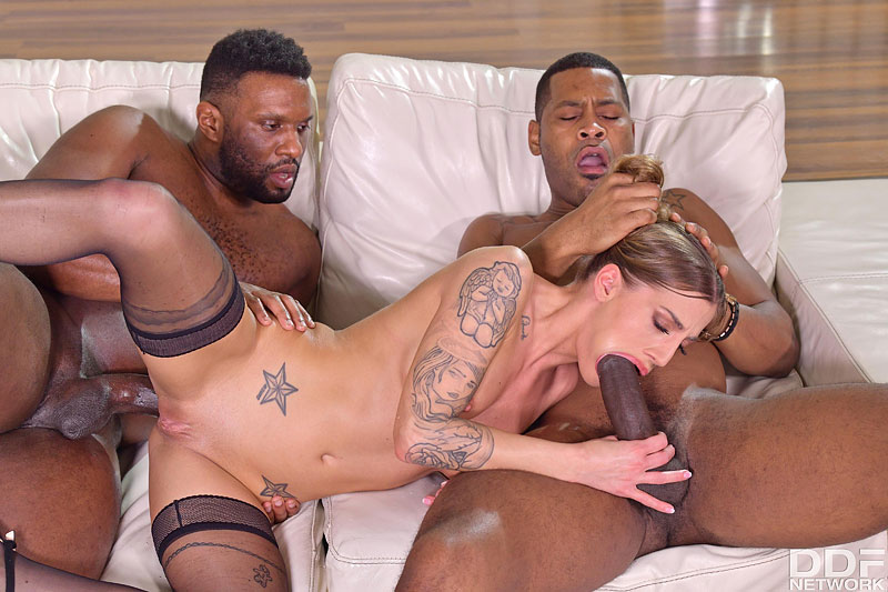 Hands on Hardcore: Yves Morgan & Darrell Deeps - Cute Czech Saleswoman Silvia Dellai Closes the Deal on Two BBCs 12