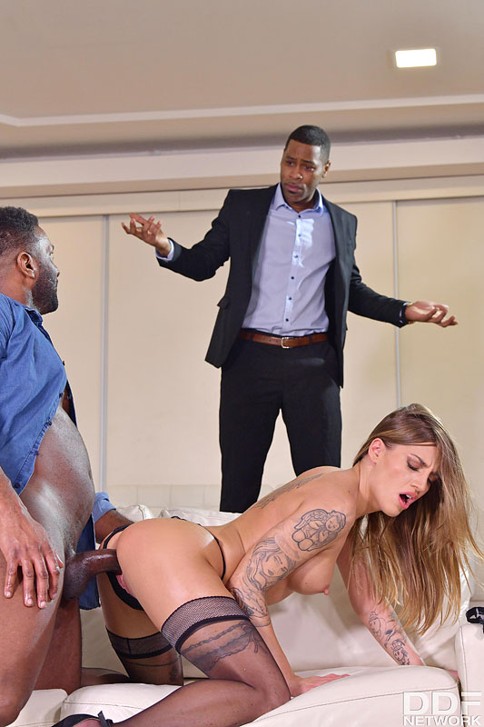 Hands on Hardcore: Yves Morgan & Darrell Deeps - Cute Czech Saleswoman Silvia Dellai Closes the Deal on Two BBCs 9