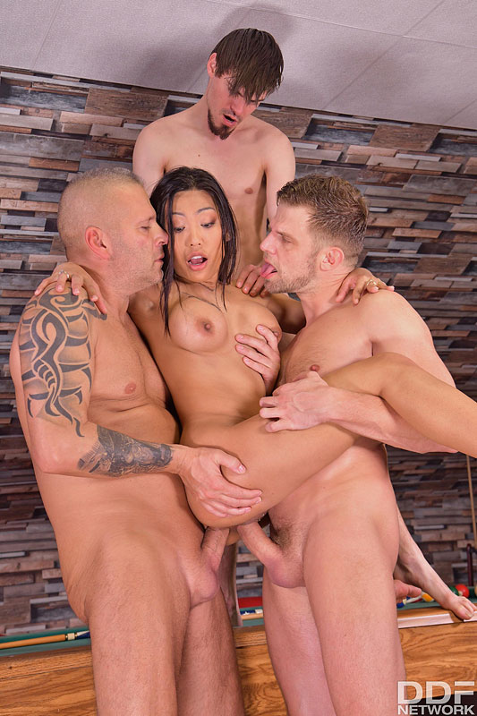Hands on Hardcore: Thomas Stone & Josh & Vince Karter & Polly Pons - Busty Asian Polly Pons Has a Pussy as Tight as Her Tits are Big 16