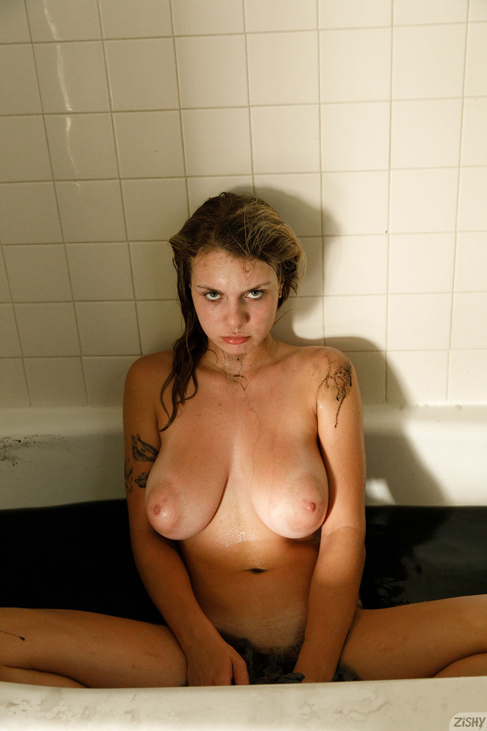 Zishy: Gabbie Carter with a Face Mask 11
