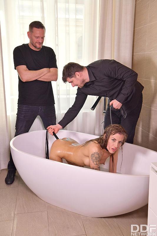 Hands on Hardcore: Kristof Cale & Yanick Shaft & Silvia Dellai - Submissive Silvia Dellai Takes DP Punishment in BDSM 3some 6
