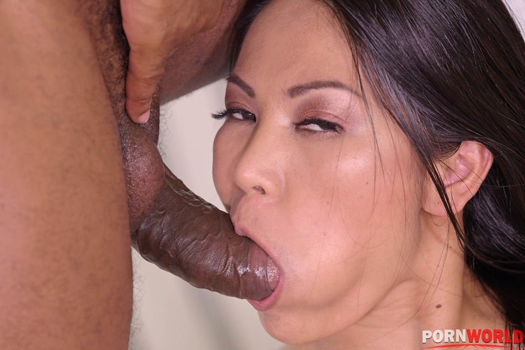 Cheating Asian Housewife Polly Pons Stretched Out in BBC Double Penetration GP1930 6