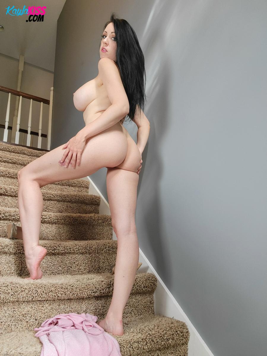 Kayla Kiss - Pink Dress No Panties 9